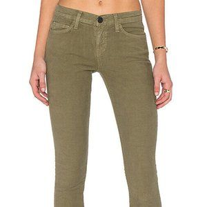 Current/Elliott The Ankle Skinny Army Green Jeans